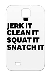 Jerk Clean Satire Snatch Funny Crossfit Jerk Squat For Sumsang Galaxy S4 Black Protective Hard Case