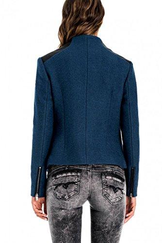 In Finta Salsa Rifiniture Con Jacket Regular Blu Pelle wn88qOIz4x