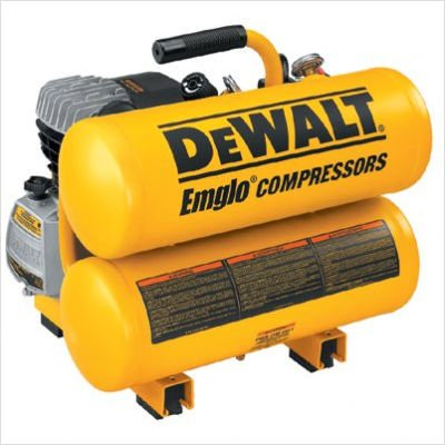 Factory Reconditioned Dewalt D55153R 1.1 HP 4 Gallon Oil-Lube Hand Carry Air Compressor ()