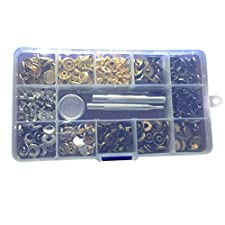 SUPVOX 80 Sets Metal Snap Fasteners Press Stud Sewing Rivet Buttons Clothing Leather Craft DIY Poppers