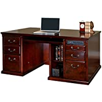 kathy ireland Home by Martin Huntington Club Double Pedestal Computer Desk - Fully Assembled