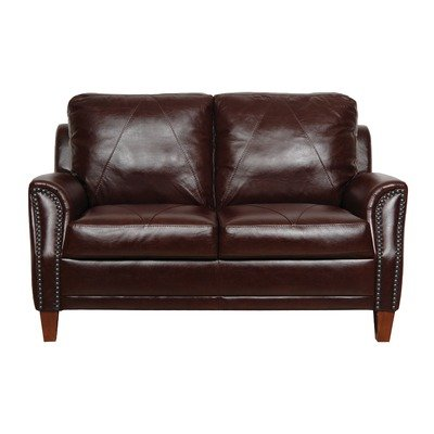 Luke Leather Austin Loveseat, Sienna