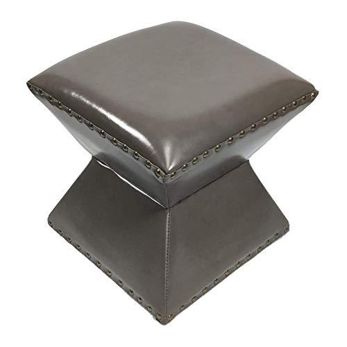 WJYY Muebles pequena antideslizante heces Escabel zapato Banco Sofa heces Cambio Banco de zapatos taburete de madera de cuero Tipo de reloj de arena de madera solida casera de multiples funciones