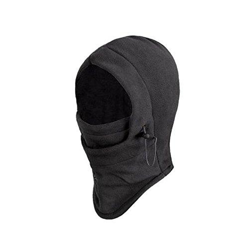 Happy Hours® Hot Multifunctional 6in1 Thicken Double Layers Neck Balaclava Sports Outdoor Camping Hiking Hat Fleece Hood Survival Winter Swat Ski Mask Helmet Neck Warmers