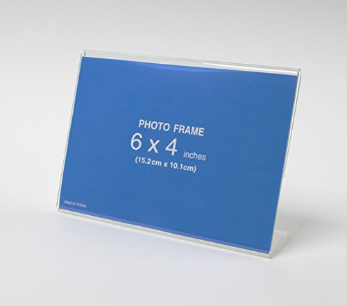 Photo Booth Nook 12 Pack of 6 x4 Acrylic Picture Frames, Sig