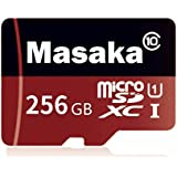 Masakasy 256GB Micro SD Card High Speed Class 10 Micro SD SDXC Card with Adapter (256GB)