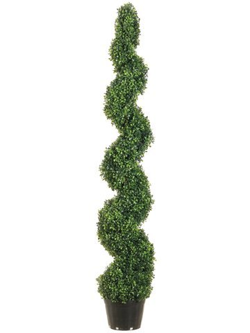 Allstate Floral & Craft Knock Down Pond Boxwood Spiral Topiary Plant, 5-Feet by Allstate Floral & Craft