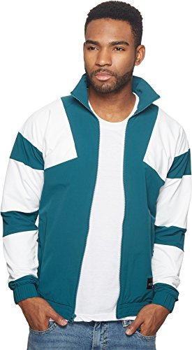 adidas Originals  Men's EQT Bold Track Top 2.0 Mystery Green/Core White XX-Large