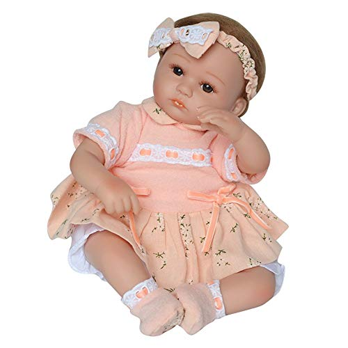 Birdfly Type:1019 Reborn Toddler Smile Pupple Sweater Baby Doll Sit Artificial Elephant Jumpsuit Girl Silicone Lifelike Toy Best Gift for Your Kid