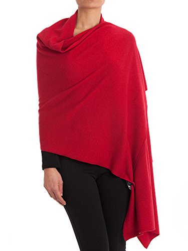 (Dalle Piane Cashmere - Stole cashmere blend - Made in Italy, Color: Red, One Size)