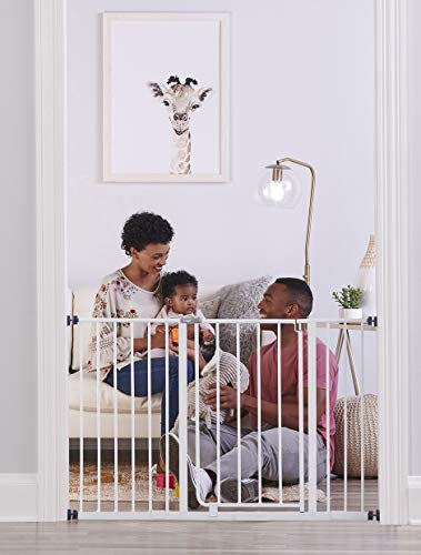 41nhFN5LTdL - Regalo Easy Open 47-Inch Super Wide Walk Thru Baby Gate, Bonus Kit, Includes 4-Inch And 12-Inch Extension Kit, 4 Pack Pressure Mount Kit And 4 Wall Cups And Mounting Kit