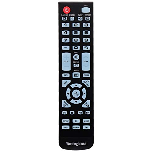 Genuine Westinghouse WS-1688 Original Remote Control for WD49FB1018 WD32HB1120 WD40FB1530 DVD Combo TV ()