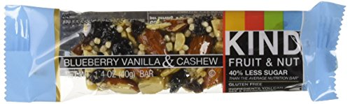 KIND Bars, Blueberry Vanilla & Cashew, Gluten Free, Low Sugar, 1.4oz, 12 - Online Usa From Buy