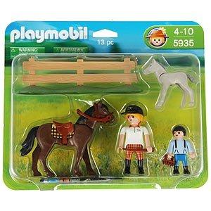 Playmobil 5935 horse foal large set toys for Playmobil pferde set