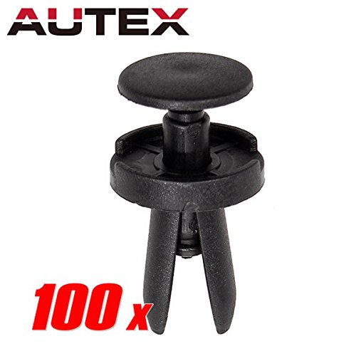 PartsSquare 100pcs Push Type Retainer Fender Liner Fastener Rivet Clips Nylon Bumper Clips Auto Body Car Clamps Replacement for Chrysler Aspen Replacement for Dodge Challenger 06504521 04575412AF ()