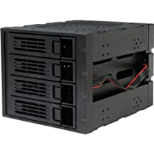 Rosewill 3 x 5.25-Inch to 4 x 3.5-Inch Hot-swap SATAIII/SAS Hard Disk Drive Cage - Black (RSV-SATA-Cage-34)