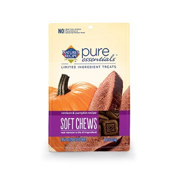 Nature's Recipe Pure Essentials Soft & Chewy Treats - Venison & Pumpkin - 5.5oz