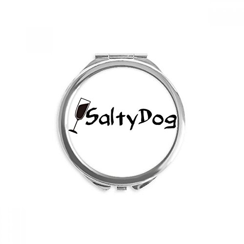 Salty Dog Salt Cocktail With Its Cup Mirror Round Portable Hand Pocket Makeup]()