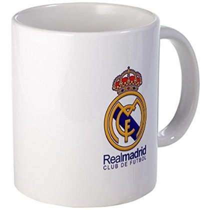 (11 ounce Mug - Real Madrid Cross Mug - S White