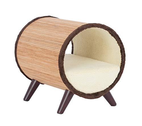 Paws & Purrs Tubular Small Pet Bed, Bamboo/Vanilla ()
