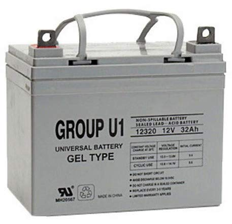 Universal Power Group 12V 32Ah U1 Medical Mobility Scooter Wheelchair Gel Battery