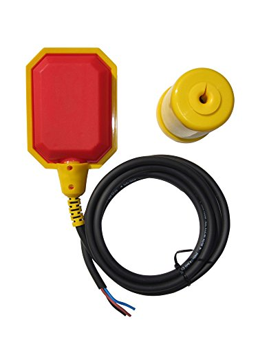 Float Switch w / 6 ft. Cable, Water Tank, Sump - Plastic Float Tank