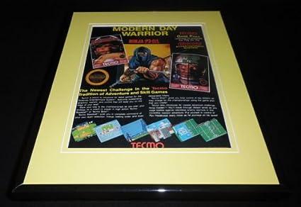 Tecmo Bowl Ninja Gaiden 1988 NES Nintendo 11x14 Framed ...