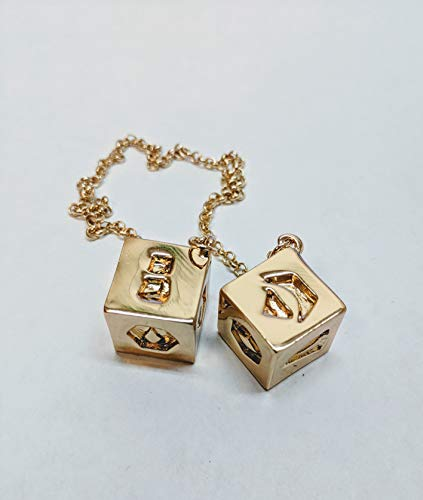 Largest All Metal Gold Plated Millennium Falcon dice, Han Solo Dice, Star Wars Dice ()