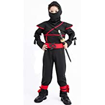 """Stealth Ninja Costume for Boys/Girls Role Play (S(Height:39""""-43""""))"""