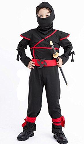 Meeyou Stealth Ninja Costume for Boys/Girls Role Play (L(Height:47