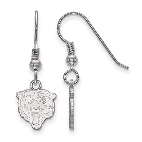 (NFL Sterling Silver Chicago Bears XS Dangle Earring Wire)