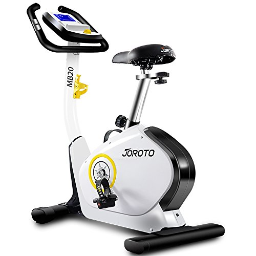 JOROTO Upright Exercise Bike Indoor Magnetic Exercise Bike - Smooth Quiet Driven Cardio Fitness Cycling Machine Home Stationary Trainer with Pulse