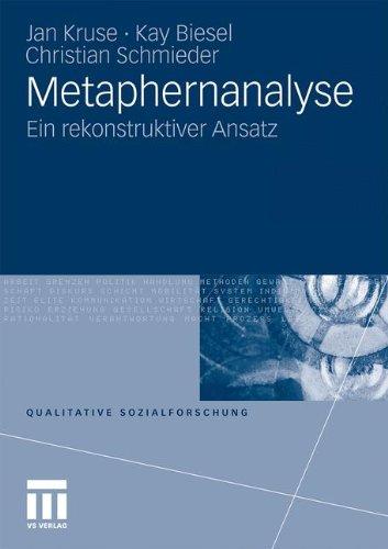 Metaphernanalyse: Ein rekonstruktiver Ansatz (Qualitative Sozialforschung) (German Edition)
