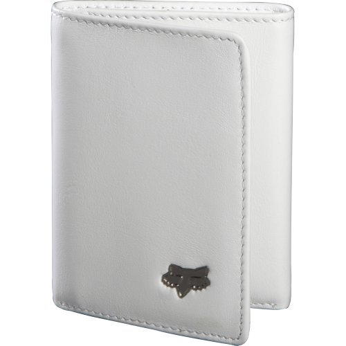 Fox Racing Leather (Fox Racing Leather Trifold Men's Casual Wallet - White / One)
