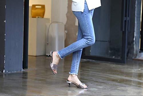 Cuarenta Mujer Rosa Zapatos Hbdlh lentejuelas Verano Forty De Color Mujer Hermosos Zapatillas 0Ew7v7