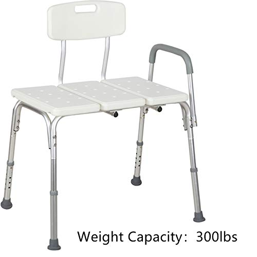 Uenjoy Medical Tub Transfer Bench Shower Chair for Bathroom with Backr