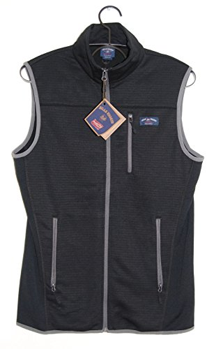 Bill's Khakis Fleece Lined Vest Black for Golf, Hiking, Fishing, Running (Medium)