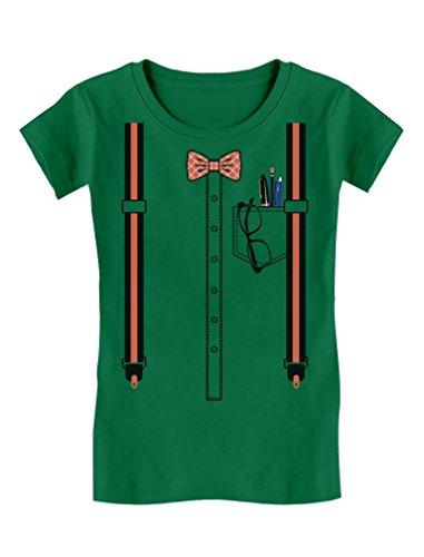 TeeStars - Halloween Nerd Geek Easy Costume Toddler/Kids Girls' Fitted T-Shirt 2T Green