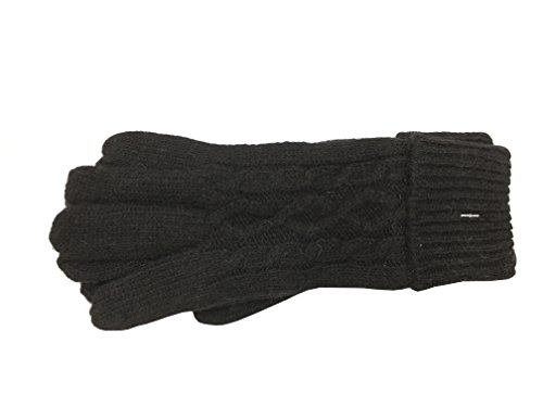 fulaixi 手袋 グローブ 防寒手袋 暖かい レディースニット手袋 5本指 ひも付き ブロック