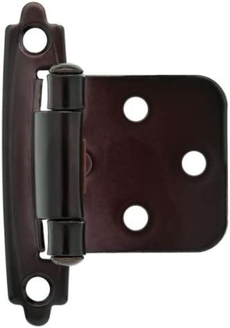 Liberty Hardware H0103BC-500-C 1-15//16 in. 49mm Self-Closing Overlay Hinge Oil Rubbed Bronze