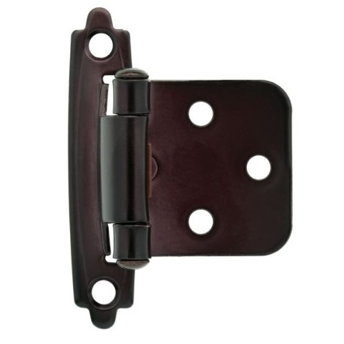 (Liberty Hardware H0103BC-500-C - 1-15/16 in. (49mm) Self-Closing Overlay Hinge, Oil Rubbed)