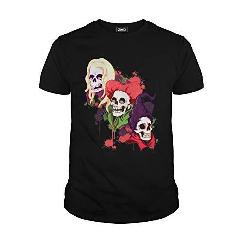 Zoko Apparel Men's Hocus Pocus Skull T-Shirt (2XL, Black) ()