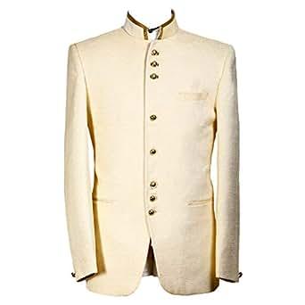 Libas Riyaz Gangji Off White Cotton Blazer For Men