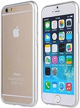 Pack de 2 Unidades: Funda Bumper iPhone 6S y iPhone 6 Aluminio Metal Lateral Contorno Gris Plata Plateado: Amazon.es: Electrónica