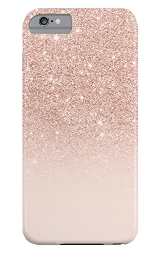 ZHDS Phonecase Rose Gold Faux Glitter Pink Ombre Color Block Slim Fit Case For Iphone 6 Plus/6S - 6 Ombre Case Iphone Color