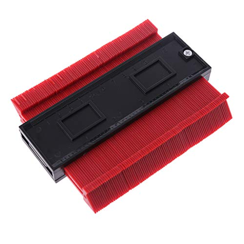 - Dinfoger 120mm Plastic Circular Frame Profile Copy Gauge High Accuracy Contour-Gauge Duplicator Tiling Laminate Tiles Wood Marking Tools Love Red+Black