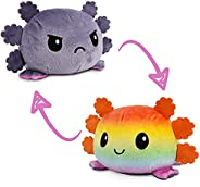 TeeTurtle | The Original Reversible Axolotl Plushie | Patented Design | Sensory Fidget Toy for Stress Relief |