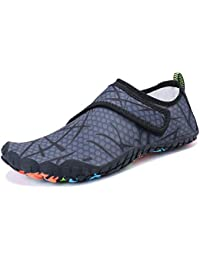 6aed96556908 Mens Womens Water Sports Shoes Quick-Dry Lightweight Barefoot Wide Feet Toe  Solid Drainage Sole