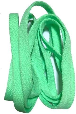 TMYQM ワイドスニーカースポーツシューズフラット靴ひも靴ひもの8ミリメートル24色80センチメートル/ 100センチメートル/ 120センチメートル/ 140センチメートル/ 160センチメートル (Color : No 22 apple green, Size : 160cm)