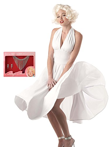 California Costumes Women's Adult Sexy Marilyn Costume Wig and Jewelry Set, White, Large